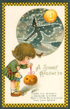 .Halloween vintage card