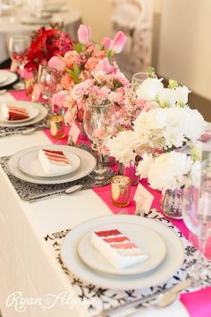 Wedding Festivals tabletop design by Renee Burroughs Designs And Cake by Holly's Cakes. Ombre