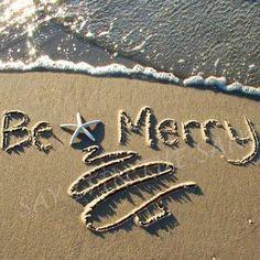 Beach Christmas card idea . . .