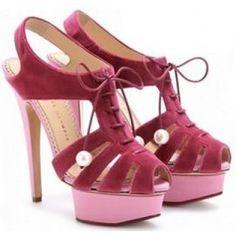 $193  Charlotte Olympia Pink Maxine Sandal