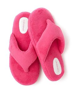 Plush Neon Slippers | Catherines Supremely soft slippers are a thoughtful gift for Mom (or for yourself) #mothersday #slippers