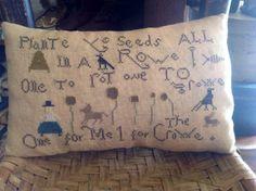 Plant ye seeds.  Lori Brechlin design.