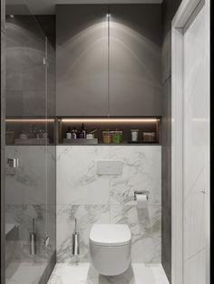 Wc Design, Toilet Design, Home Design Decor, Design Ideas, Bathroom Design Luxury, Modern Bathroom Design, Minimalist Small Bathrooms, Small Toilet Room, Baths Interior