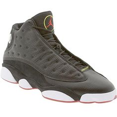 "Nike Air Jordan 13 Retro ""Playoff"" [414571-001] Bundle Black/Varsity Red-White-Vabrant Yellow Mens Shoes 414571-001-8.5  Deals  in 2015 