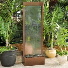 This new fountain should add a little ambiance to the patio. Along ...