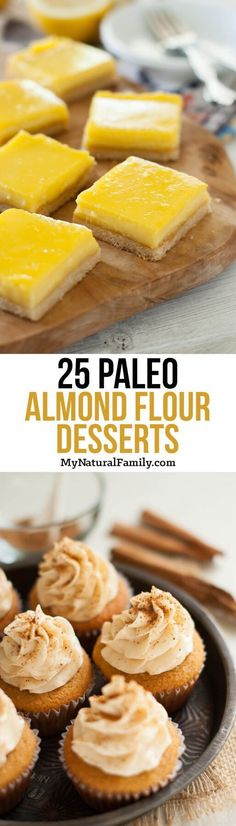 Paleo - Paleo Almond Flour Dessert Recipes It's The Best Selling Book For Getting Started With Paleo Paleo Dessert, Dessert Sans Gluten, Low Carb Dessert, Healthy Dessert Recipes, Gluten Free Desserts, Healthy Desserts, Low Carb Recipes, Whole Food Recipes, Cooking Recipes