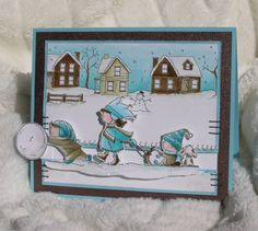 Winter Sledding Slider card by stampztoomuch - Cards and Paper Crafts at Splitcoaststampers
