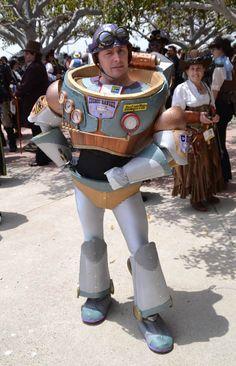 Buzz Lightyear steampunk cosplay. Genius.