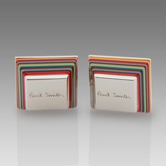 Paul Smith Tapered Enamel cufflinks
