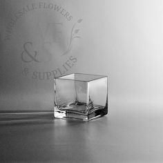 "$1.85  3"" Square Glass Cube Vase - Wholesale Flowers and Supplies"