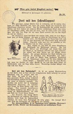 Flugblatt Berliner Tierschutz-Verein Nr. 56, ca. 1910 Seite 1