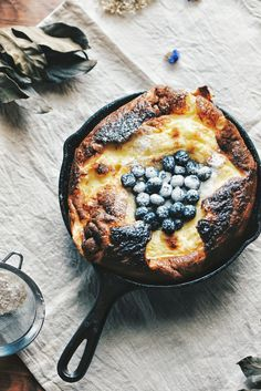 Blueberry Dutch Baby Pancakes