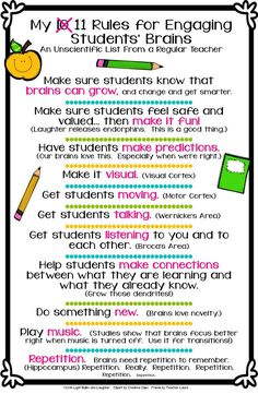 Eleven Rules for Engaging Students' Brains. FREE download!