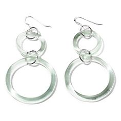8363a750120612 Smart Glass Recycled Coca-Cola Bottle Double Circle Earrings at HSN.com.  Smart
