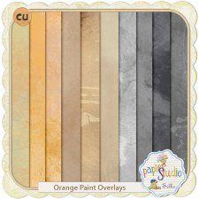 Orange Paint Overlays by Papierstudio Silke cudigitals.com cu commercial scrap scrapbook digital graphics#digitalscrapbooking #photoshop #digiscrap #scrapbooking