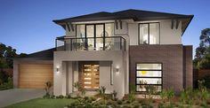 Dennis Family Homes: House Builders In Melbourne, Victoria Facade Design, Exterior Design, Cottage Design, House Design, Rendered Houses, Philippine Houses, Facade House, House Facades, New Home Builders