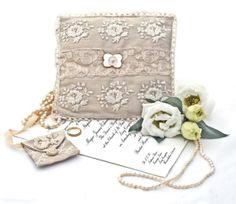 Silk Dupioni Ring Bearer Pillow  ♥ Butterflysue - $65.00