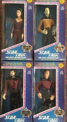 Enesco Star Trek The Next Generation Set of 4 Riker Picard Data & Deanna Tori