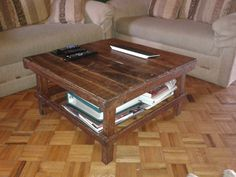 how to make a coffee table with pallets - diy furniture project