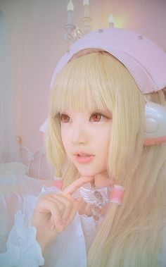 This is a wonderful Chii cosplay. This cosplayer really does look like Chi.
