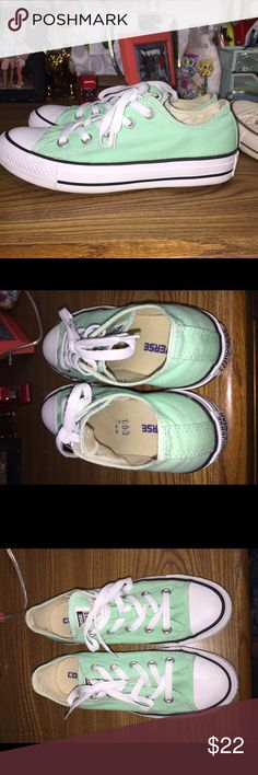 Mint Green Converse All Stars Size 6 women's. Only worn once! Excellent condition Converse Shoes Athletic Shoes