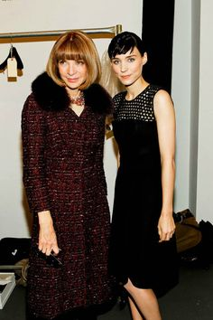 """Rooney Mara- get used to hearing about her this year!  """"VOGUE EDITOR-IN-CHIEF ANNA WINTOUR AND ROONEY MARA POSE BACKSTAGE BEFORE THE SHOW. #CALVINKLEIN #NYFW HTTP://T.CO/YPWHBHHM"""""""