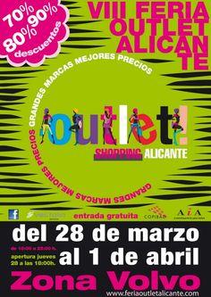 Esta PRIMAVERA tambien estaremos en el Outlet!!!  Os esperamos desde el 28/03 en la Zona Volvo de Alicante...