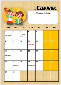 Kalendarz przedszkolaka 2019/2020 - Pani Monia