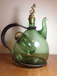 Antique Dragon blown glass tea pot More