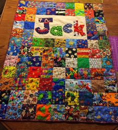 Here's a baby I spy quilt I made for my stepdaughters first child. I made this I spy baby quilt for my step daughter's first child, a baby boy named Jack.  I ch…