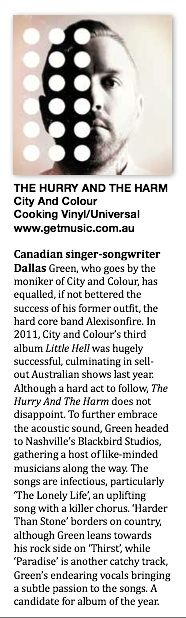 City and Colour Big Rigs Review June