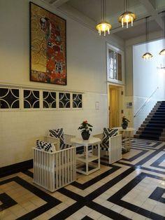 Vienna, Sanatorium Purkersdorf, Furniture by Josef Hoffmann, Wiener Werkstätte Vienna Secession, Shabby, Art Of Living, Room Inspiration, Designer, Art Nouveau, House Design, Sanatorium, Flooring