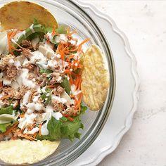 MY LUNCH!!! #alimentazione #carote #cucina #dieta #dimagrire #eatclean #food #formaggio #parmiggiano #healtyfood #insalata #instafood #instadinner #lunch #mangiasano #mais #nocarbday #gallette #riso #salad #simangia #tonno #insalatona #pranzo #yogurt