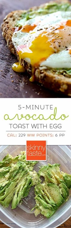 5-Minute Avocado Toast with Sunny Side Egg – my favorite breakfast or lunch! 6 PP