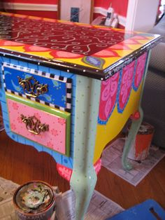 painted desk -- special order by Rebecca Waring-Crane