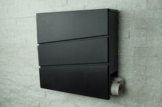 Briefkasten / Mailbox / Wandbriefkasten Modell 333 antrazit-grau RAL7016 mit Zeitungsfach