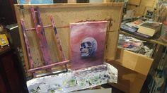 Work in progress  #goth #skull #oilpainting #paintinoils