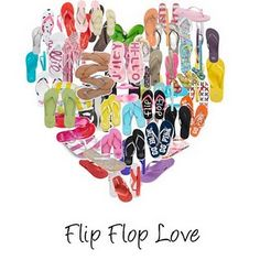 Flip flops, I can hardly wear anything else. No matter what the weather is like.