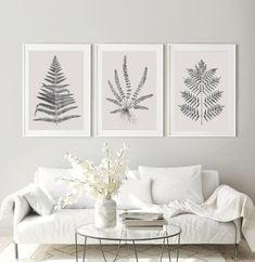 Zestaw plakatów botanicznych Liście paproci obrazy paproć | Etsy Nursery Wall Decor, Black Dots, Etsy Shop