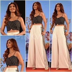 Yay or Nay : Shilpa Shetty in Bennch and Bodice Indian Fashion Dresses, Dress Indian Style, Indian Designer Outfits, Indian Wear, Fashion Outfits, Anime Outfits, Ethnic Outfits, Indian Outfits, Simple Kurti Designs