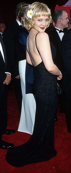 Drew Barrymore Lookbook Throwback 90s Fashion