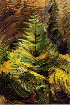 Emily Carr, Canadian 'Heart of the Forest'. Tom Thomson, Canadian Painters, Canadian Artists, Landscape Art, Landscape Paintings, Landscapes, Abstract Paintings, Abstract Art, Emily Carr Paintings