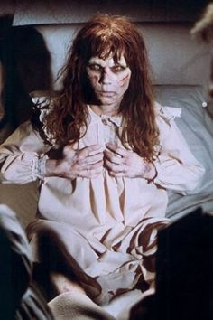 The Exorcist (1973). Based on the book The Exorcist by William Peter Blatty (1971).  (Accidentally watched this as a kid. Late night, folks were out. Slept with lights on for 2 days!)