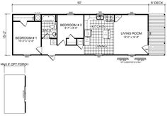 9 Best plans 16x50 images   House floor plans, How to plan ... X Wide Mobile Home Floor Plans on