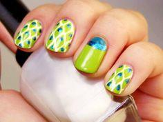 Peacock nails ^_^