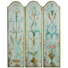 printable dollhouse folding screens and room dividers - - Yahoo Image Search Results Folding Screen Room Divider, Room Screen, Folding Screens, Room Dividers, Chalk Paint Furniture, Hand Painted Furniture, Dressing Screen, Decopage, Papier Diy