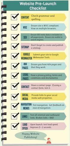 Website launch checklist. Web Development. Opus Online.