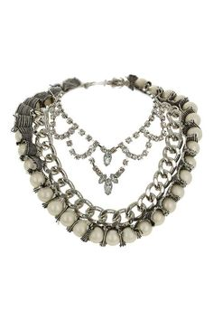 Topshop | Chunky Multi-Row Collar #topshop #chunky #necklace