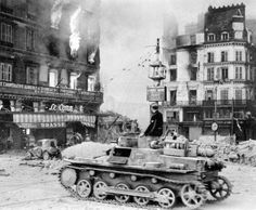 PzKpfw I in a French town ,1940.
