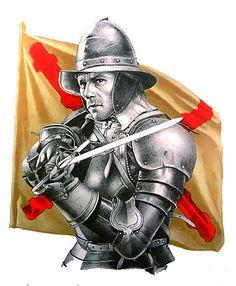 """Spanish swordsman, 16th century"""